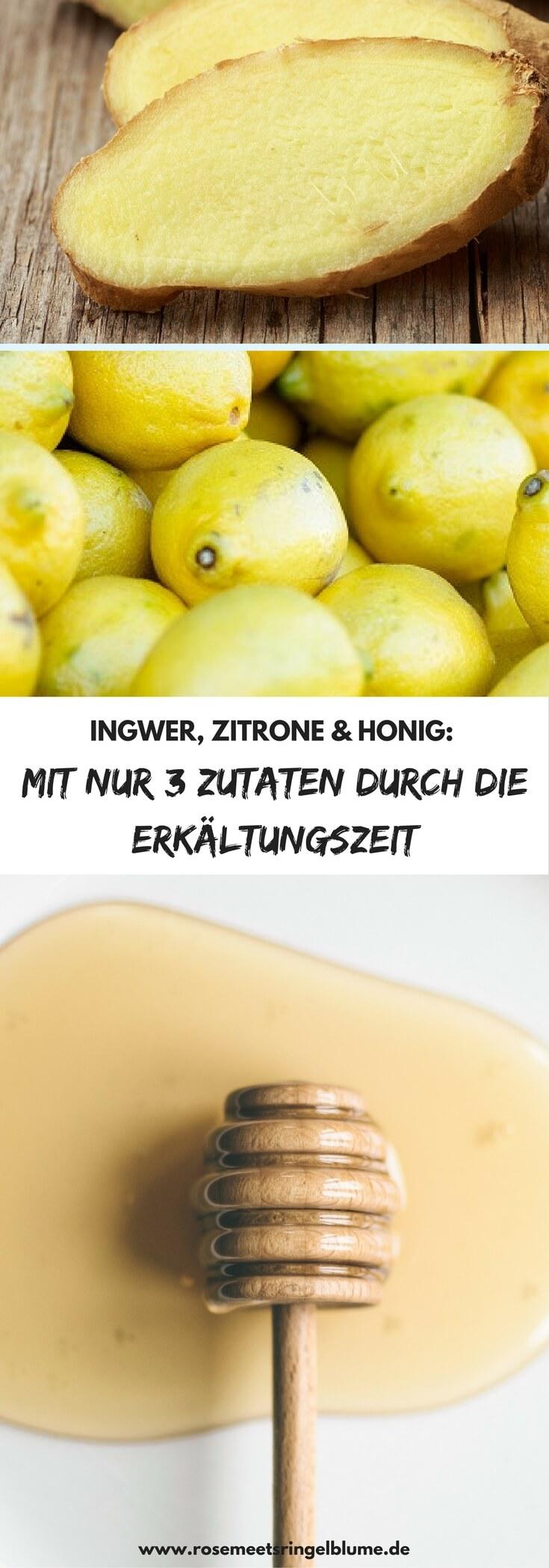 Ingwer Zitrone Honig als wirkungsvolles Mittel gegen Erkältungen