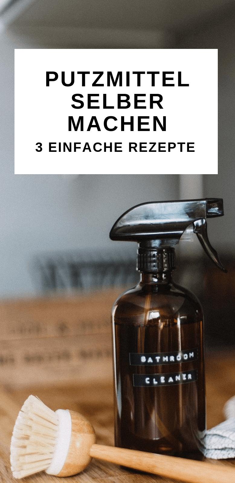 Putzmittel selber machen für Küche und Bad