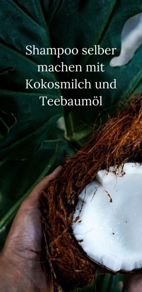 Haarshampoo selber machen mit Kokosöl und Teebaumöl